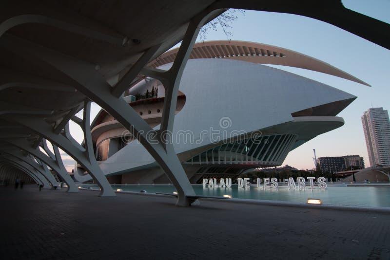 Valencia, Spagna - 28 aprile 2019: Palau de les Arts Reina Sofia Queen Sofia Palace delle arti, progettata da Calatrava fotografia stock