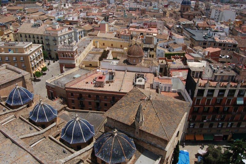 Valencia, Spagna: Vista sopra i tetti della città immagine stock libera da diritti