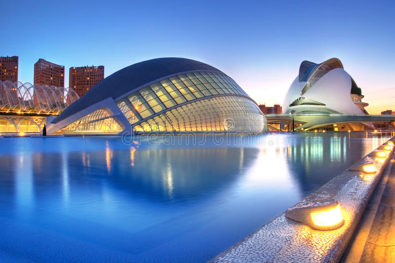 Valencia, Spain. May 4: Annual Opening of the Hemisferic and Palau de Les Arts on May 4, 2009 in royalty free stock photo