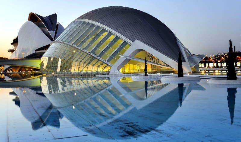 Valencia, Spain. City of Arts and Sciences in Valencia, Spain by Santiago Calatrava stock photo