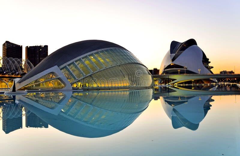 Valencia, Spain. City of Arts and Sciences in Valencia, Spain by Santiago Calatrava stock photos