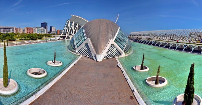 Valencia, Spain. City of Arts and Sciences in Valencia, Spain royalty free stock photos