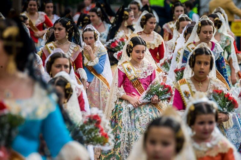 Valencia, Spain, The Fallas Festival stock photo
