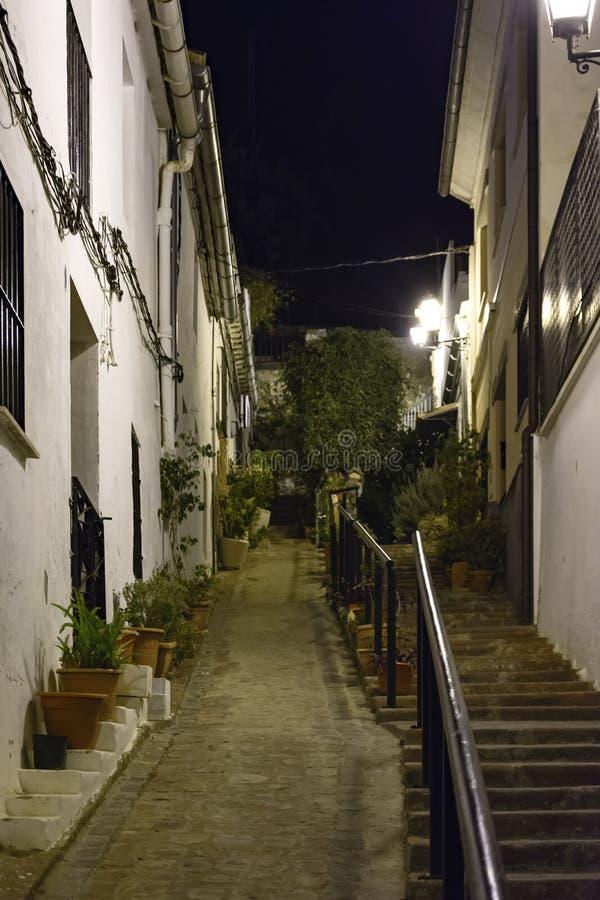 Street view of the Jewish quarter in Sagunto. stock image