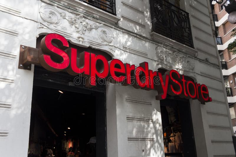 Superdry logo on Superdry store royalty free stock photos