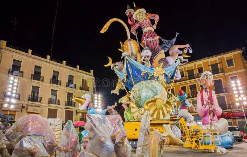 Valencia in Fallas royalty free stock photos