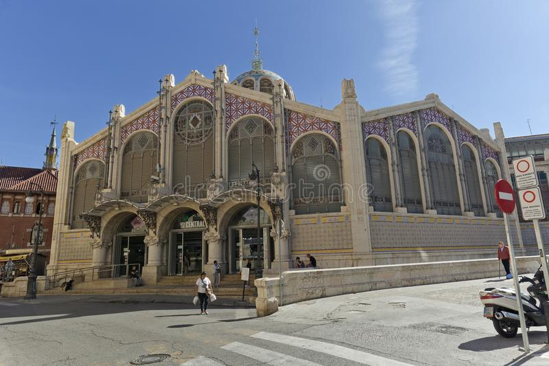 The Central Market of the city of Valencia. Valencia, Spain. October 25, 2017: The Central Market of the city of Valencia is a construction of Valencian royalty free stock photo