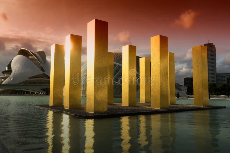 Valencia Spain, Stad van Kunsten en Wetenschappen royalty-vrije stock afbeelding
