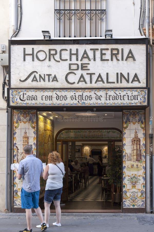 Valencia,Spain. Typical horchateria, santa catalina, historic center of Valencia,Spain royalty free stock photos