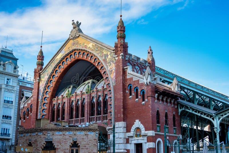 Valencia, Spanien Mercado zentral - ber?hmte alte Markthalle lizenzfreie stockbilder