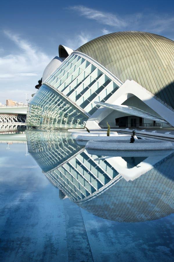 VALENCIA, SPANIEN - 21. SEPTEMBER: Stadt von Künsten und von Wissenschaften (ein ex stockfotografie