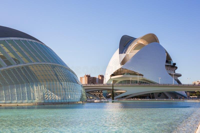 Valencia, Spanje, Januari, 01, 2018, Museum van Wetenschapsprins Felipe, Stad van Kunsten en Wetenschappen royalty-vrije stock afbeeldingen