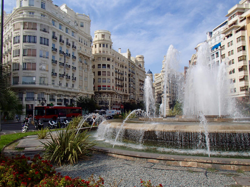 Valencia Square royaltyfri fotografi