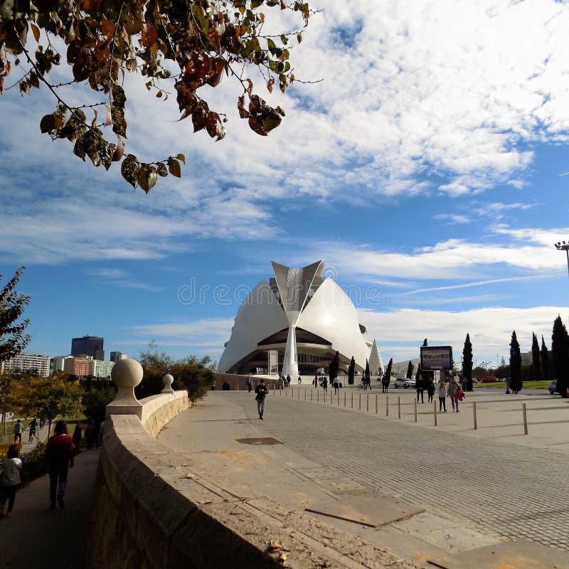 Valencia - stad av konster och vetenskaper royaltyfria foton