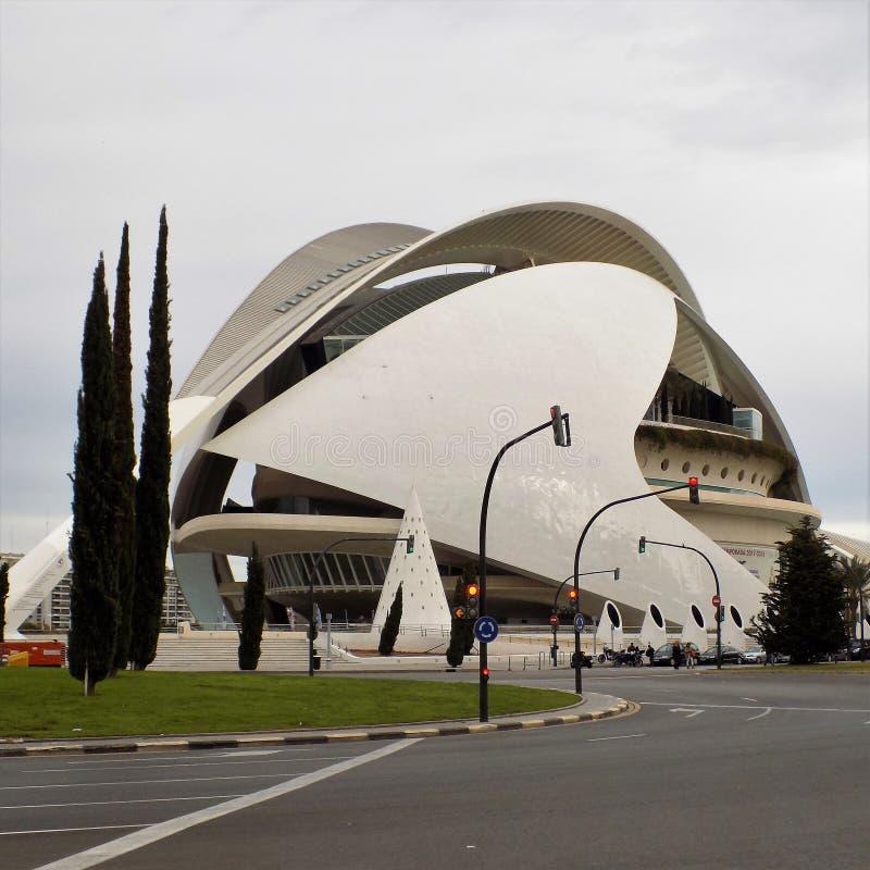 Valencia - stad av konster och vetenskaper fotografering för bildbyråer