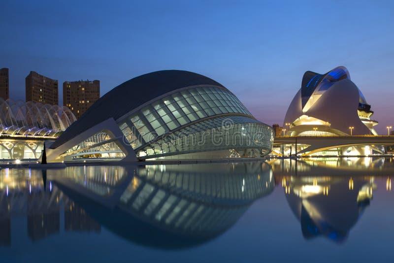 Valencia - stad av konster & vetenskaper - Spanien royaltyfria foton