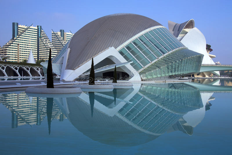 Valencia - stad av konster & vetenskaper - Spanien arkivbilder