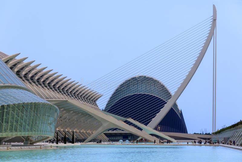 Valencia - stad av konster & vetenskaper - Spanien royaltyfri fotografi