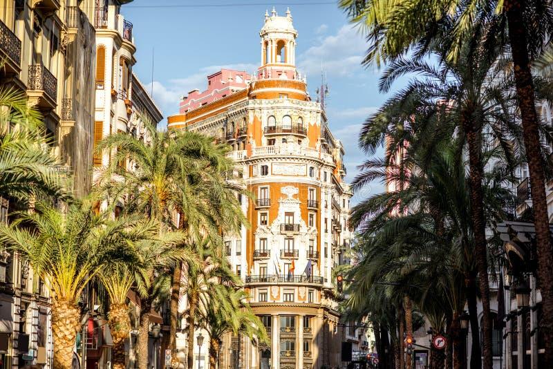 Valencia stad i Spanien arkivfoto