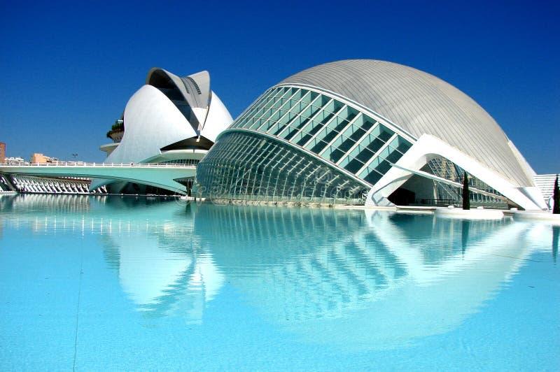 Valencia, Stad van arts. stock foto