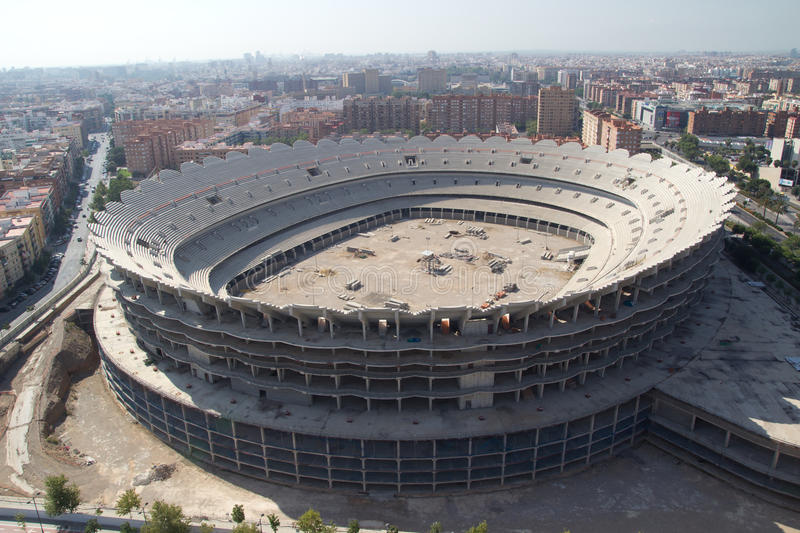 Valencia Stadium photographie stock
