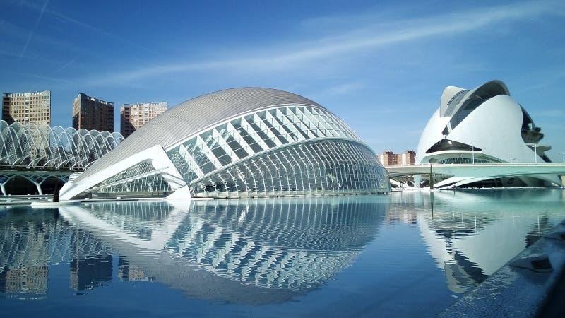 Valencia Stadt der Künste und Wissenschaften lizenzfreie stockbilder