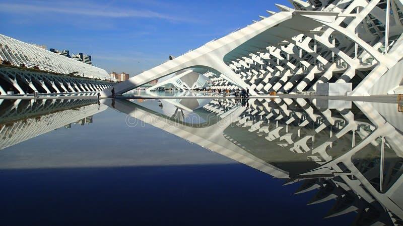 Valencia Stadt der Künste und Wissenschaften stockfotografie