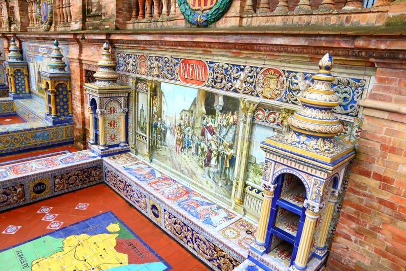 Valencia tema i Sevilla arkivbilder
