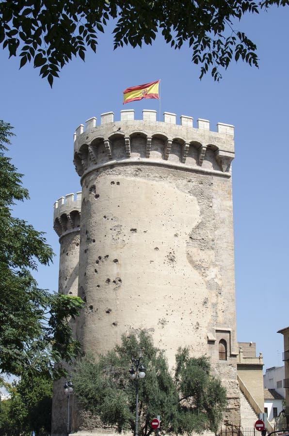 Valencia, torre del cuarto de galón fotos de archivo libres de regalías