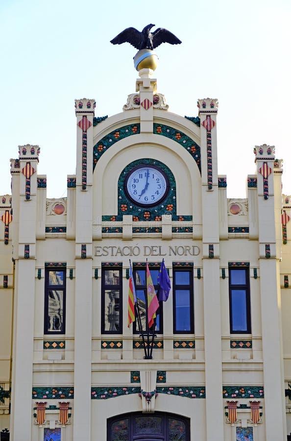 Valencia Train Station, Fassadendetail stockbild