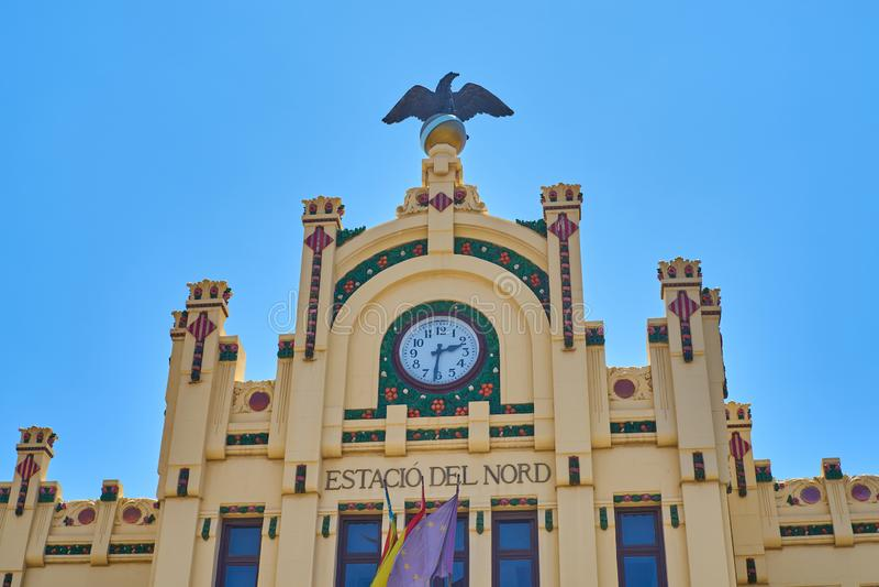 Valencia train station. North Station. Valencia, Spain royalty free stock image
