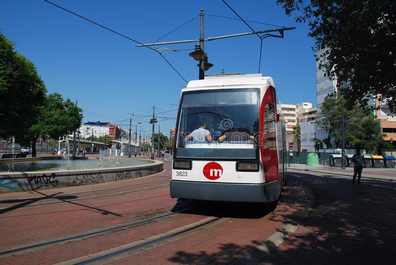 Valencia tram, Spain royalty free stock images