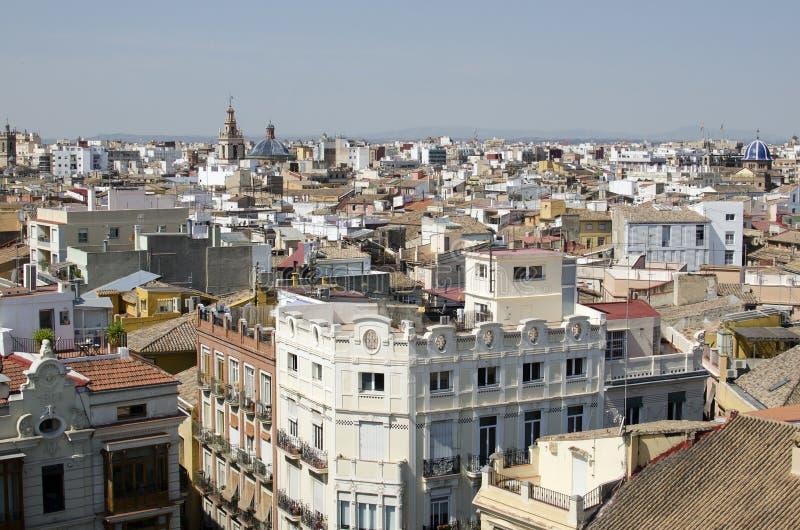 Valencia, visiones aéreas imagen de archivo libre de regalías