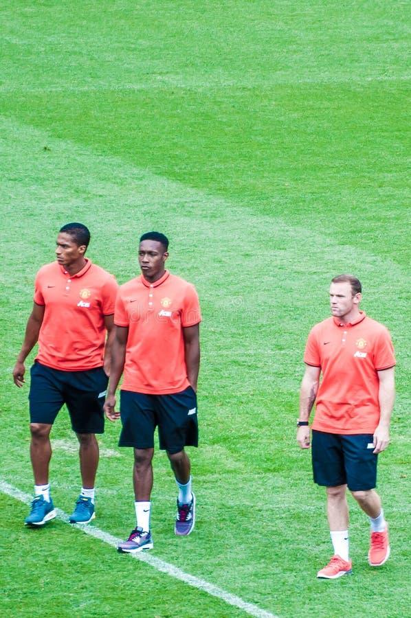 Valencia, Welbeck e Rooney immagine stock libera da diritti