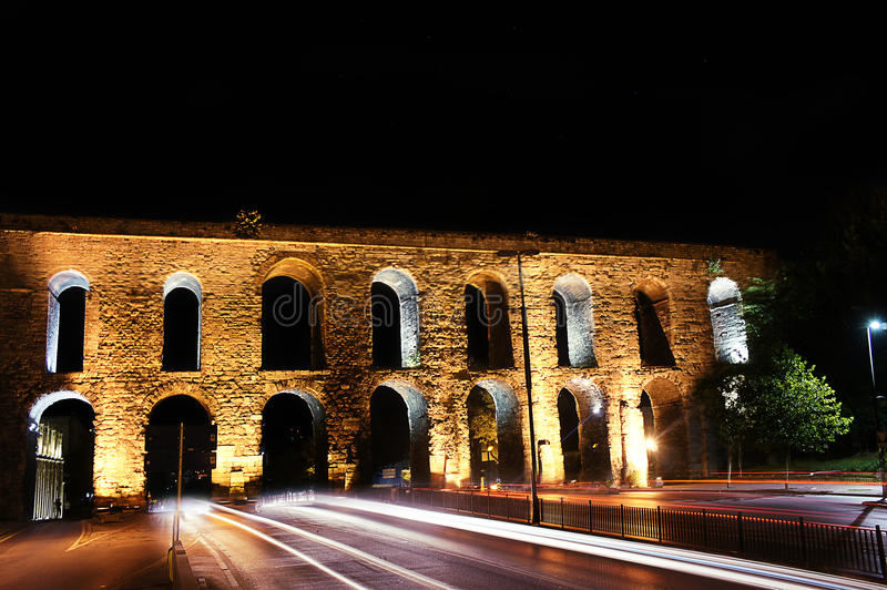 Valens Aqueduct Istanbul Stock Photography