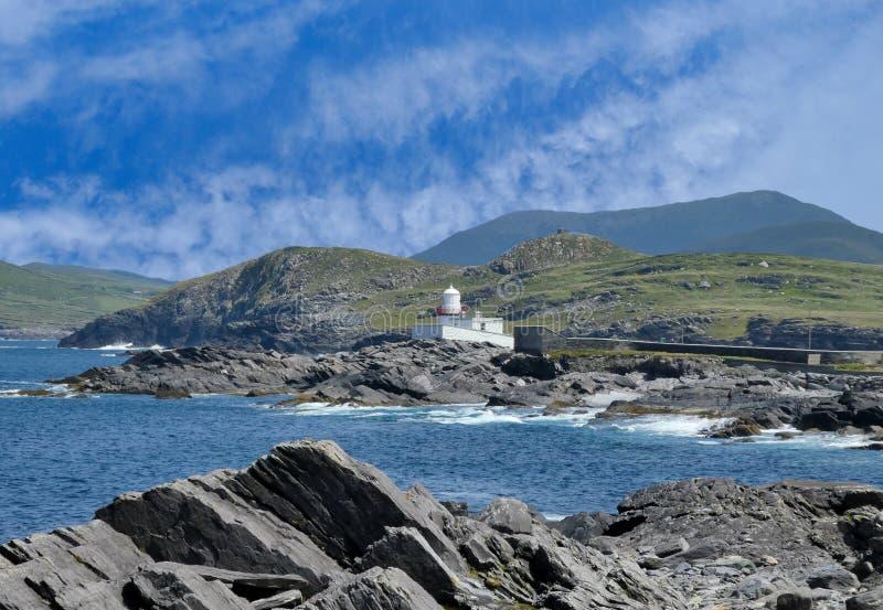 Valentia Island Lighthouse, Co kerry imagenes de archivo