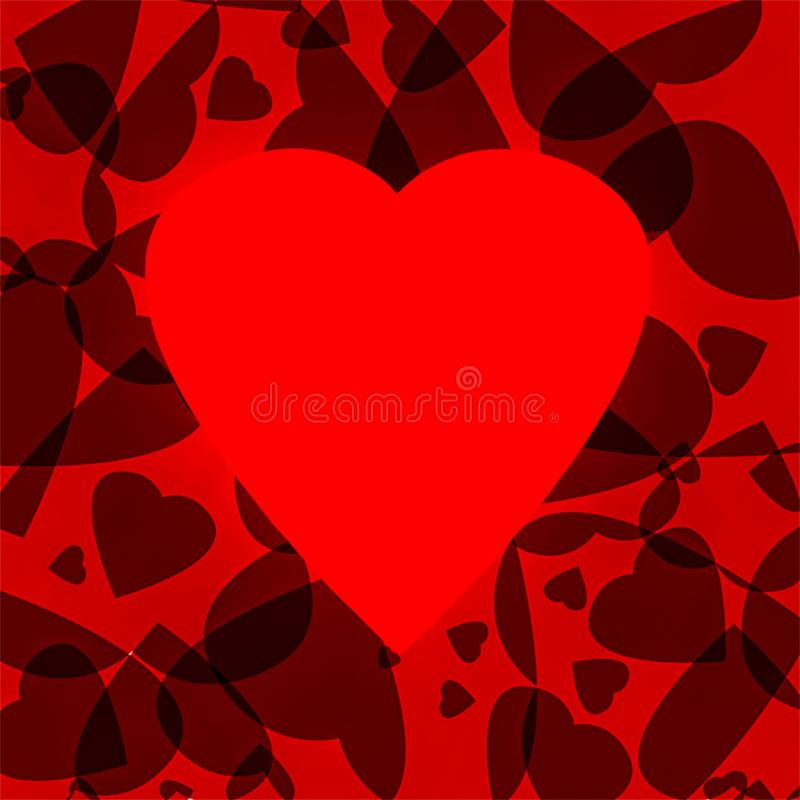 Valentijnshart abstracte achtergrondillustratie vector illustratie