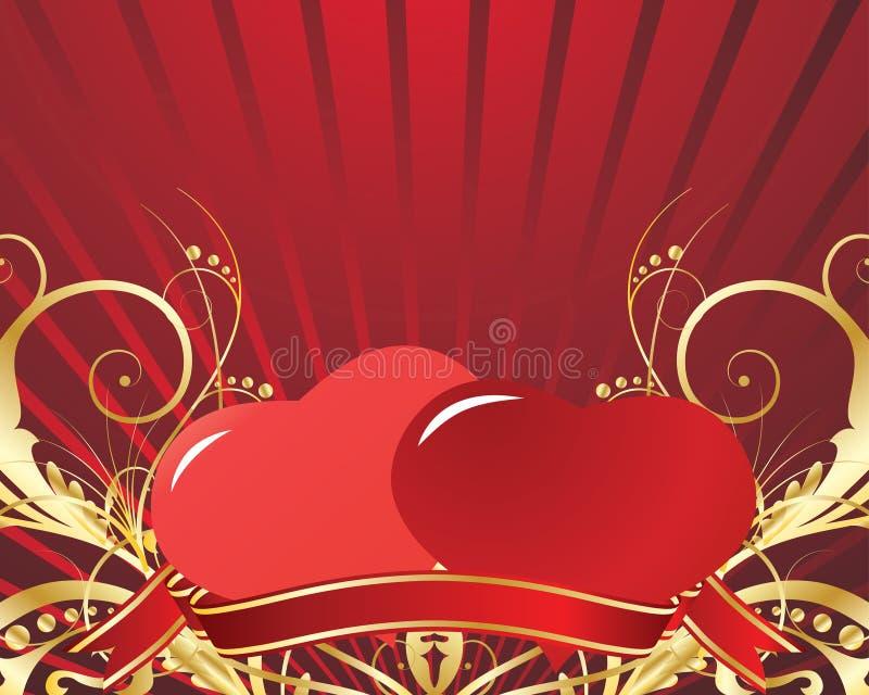 Valentijnskaart royalty-vrije illustratie