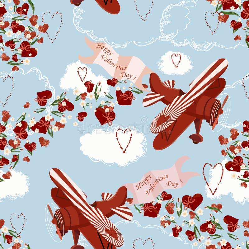 Valentijnskaart airshow stock illustratie
