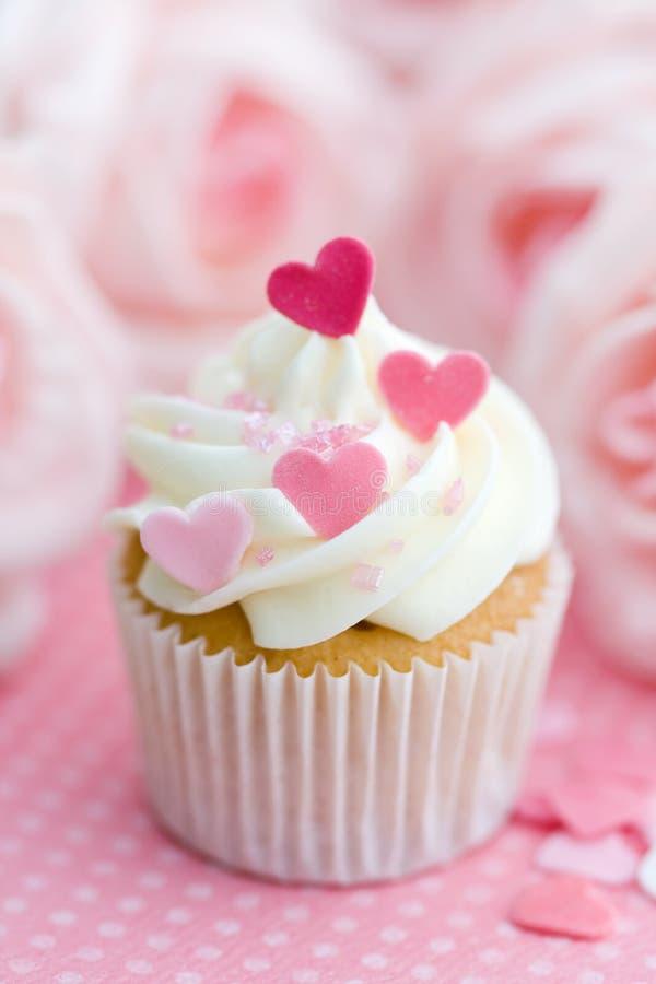 Valentijnskaart cupcake stock fotografie