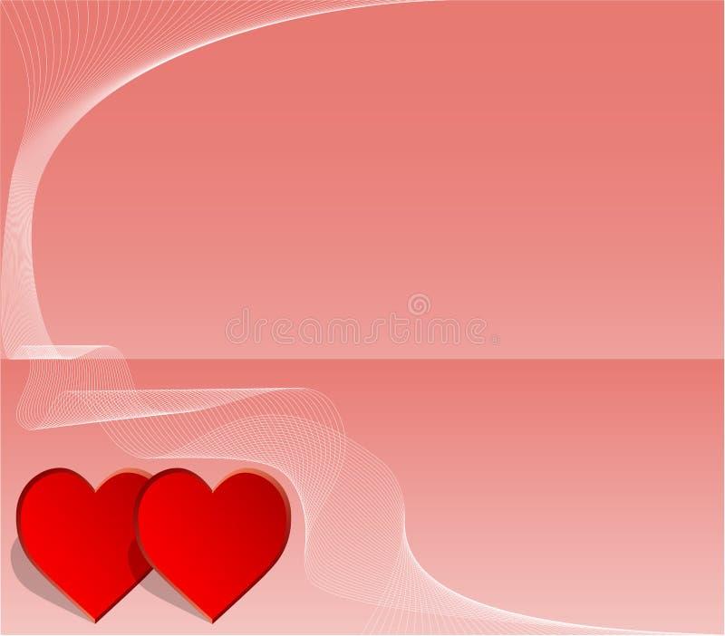 Valentijnskaart of huwelijkskaart stock illustratie