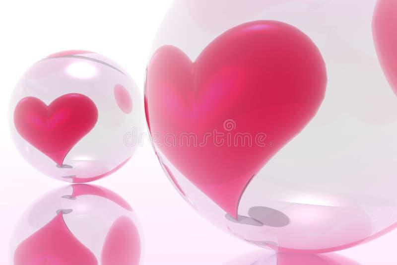 Valentijnskaarten royalty-vrije illustratie