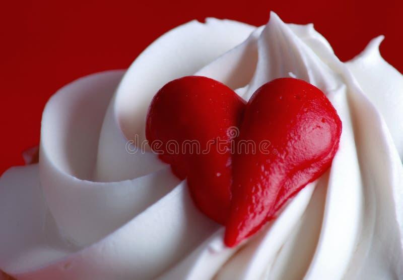 Valentijnskaarten cupcake stock afbeeldingen