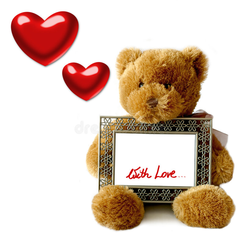 Valentijnskaarten - Teddybear stock illustratie