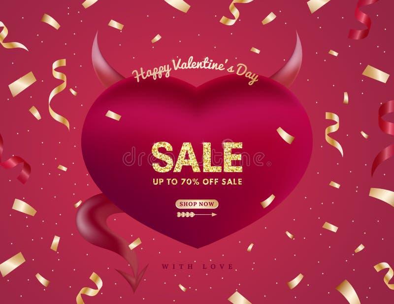 Valentijnskaarten of van Vrouwen dagbanner voor Verkoopkaart stock illustratie
