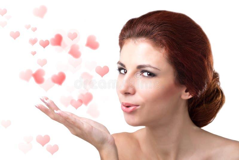 Valentijnskaartendag. stock foto