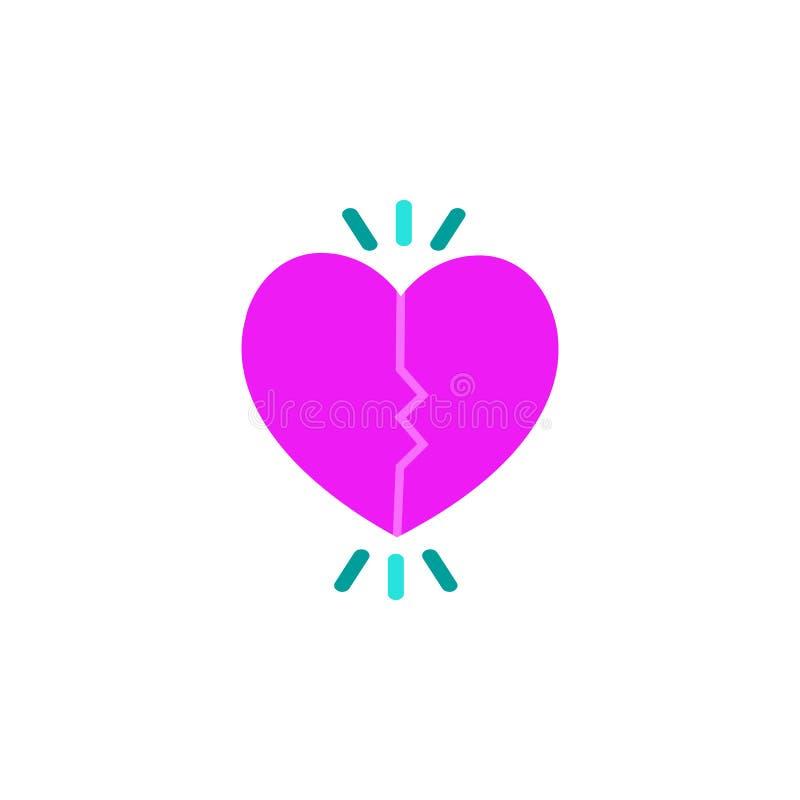 Valentijnskaartendag, die pictogram dateren Element van de dagpictogram van Webvalentine voor mobiele concept en webtoepassingen  stock illustratie