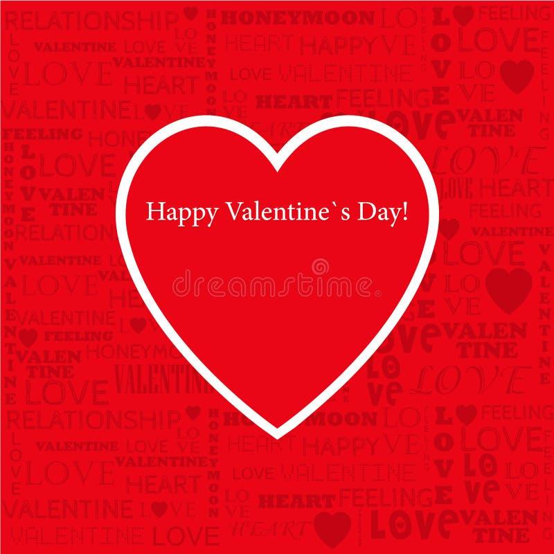 Valentijnskaartendag gescheurde document vectorillustratie van s stock illustratie