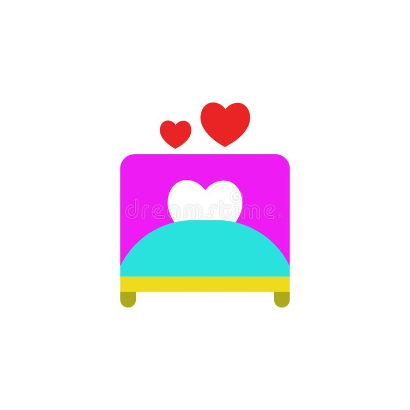 Valentijnskaartendag, slecht, liefdepictogram Element van de dagpictogram van Webvalentine voor mobiele concept en webtoepassinge vector illustratie