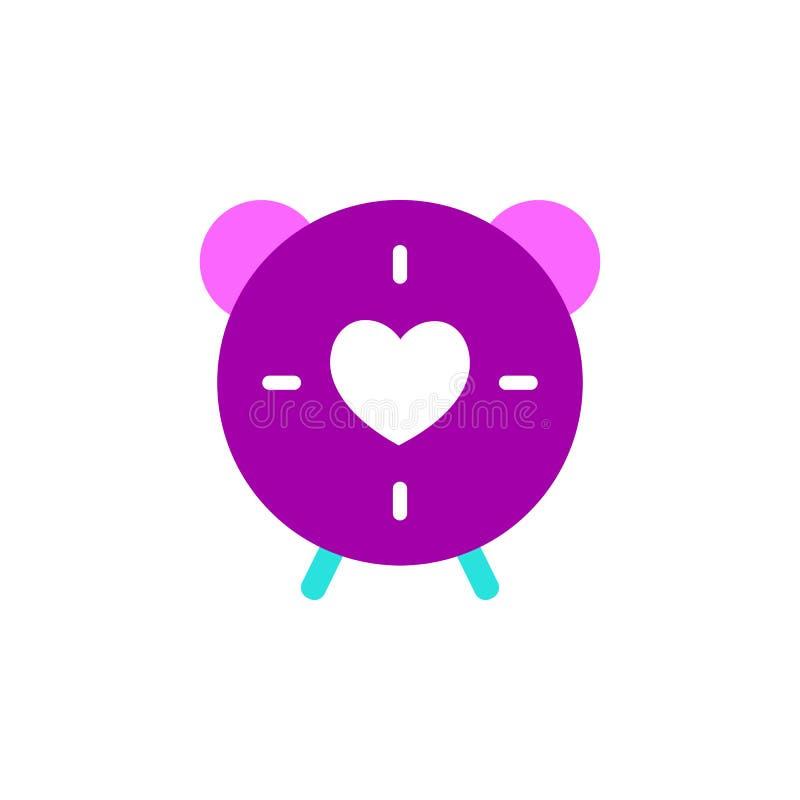 Valentijnskaartendag, uurpictogram Element van de dagpictogram van Webvalentine voor mobiele concept en webtoepassingen Gedetaill stock illustratie